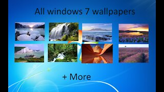 All windows 7 wallpapers