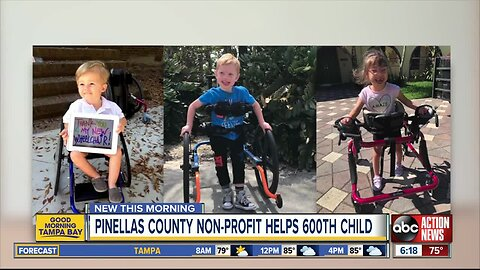 Pinellas County nonprofit, Wheelchairs 4 Kids, reaches milestone by helping their 600th child