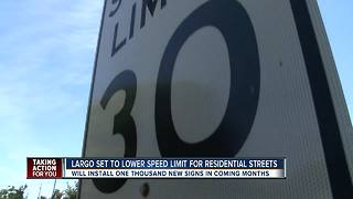 Largo plans to change residential speed limit from 30 to 25 - Video