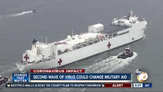 Military aid could change in event of second virus wave