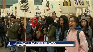 Many rally in Racine to support DACA - Video