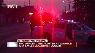 DPD Officer Critical after Hit & Run - Video