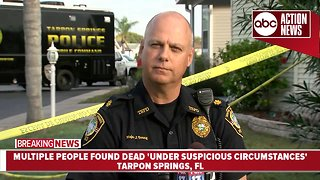 Three people, three dogs killed inside Tarpon Springs home | Press Conference