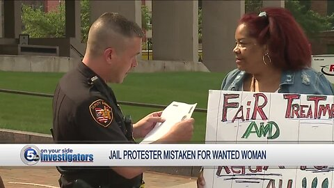 Woman stopped, asked for ID during jail protest