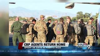 Border Patrol agents return from Puerto Rico