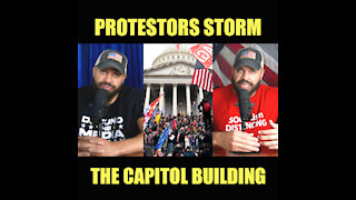 Protestors Storm The Capitol Building