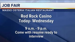 Italian restaurant hiring Red Rock hotel-casino - Video
