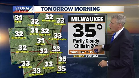 Mostly sunny Wednesday, temps in the 40s