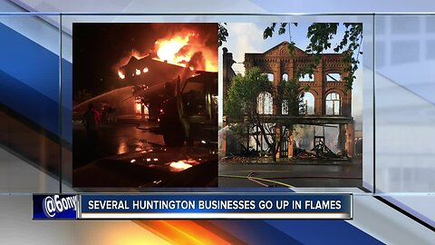 Man charged with arson after Huntington businesses go up in flames
