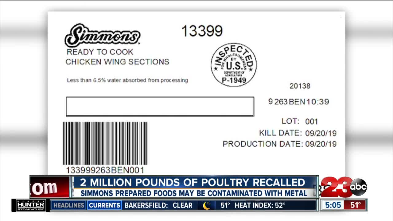 2 Million Pounds of Poultry Recalled