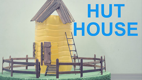 How to make a Giant Hut House with Plastic Bottle