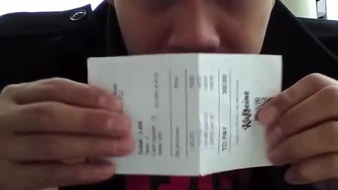 Magician turns receipt into real cash