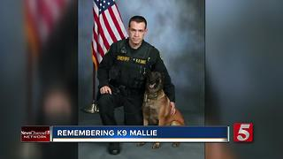 K9 Mallie Honored In Montgomery County