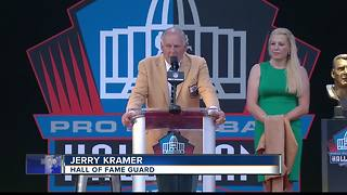 Jerry Kramer inducted into hall of fame - Video