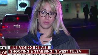 Shooting & Stabbing In West Tulsa - Video