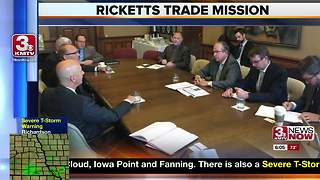 Governor Ricketts visits Canada on trade mission - Video