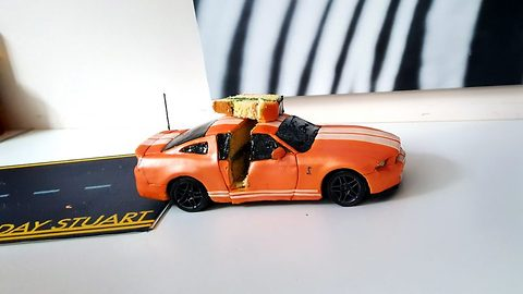That auto taste good! Couple create working remote controlled car cake complete with lights