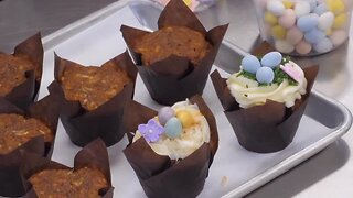 Simply Sweet makes carrot cake cupcakes at Ghiladolci Bakery