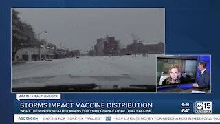 Storms impact COVID-19 vaccine distribution