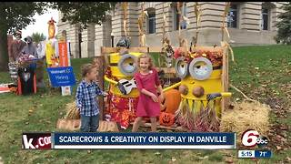 Scarecrows on display in Danville provide family fun - Video