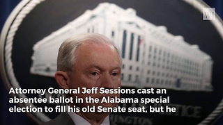 Jeff Sessions Issues a Statement on His Vote in Roy Moore Election - Video