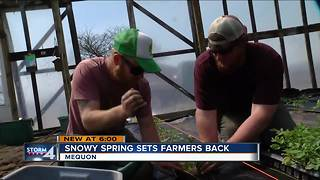 Local farmers discuss effects of spring snow - Video