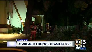 Two families displaced following Phoenix apartment fire