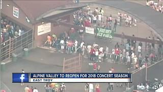 Alpine Valley Music Theater to reopen in 2018 - Video