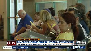 DMV warns people to avoid 'Black Monday' - Video