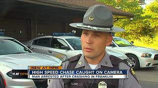 High-speed chase caught on camera - Video