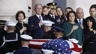 Family And Lawmakers Pay Respects To George H.W. Bush