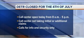 DETR closed for the Fourth of July