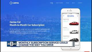 Monthly subscription service could change the way you drive - Video