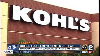 Kohl's center in Edgewood hosting job fair - Video