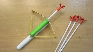 How to make a Paper Crossbow - how made toy for kids - toy for kid  - Video
