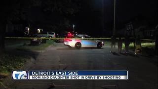 Mother and daughter shot in drive-by shooting - Video