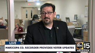 Adrian Fontes provides noon update on voting in the Valley