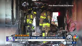 7 adults, 8 children displaced after apartment fire in Lake Worth - Video