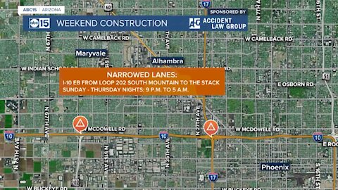 Freeway construction plans for the weekend of April 9-12