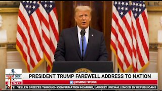 President Trump Gives Farewell Speech