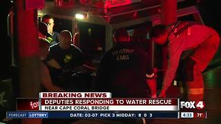 Cape bridge jumper rescued from water nearly 8 hours after plunge - Video