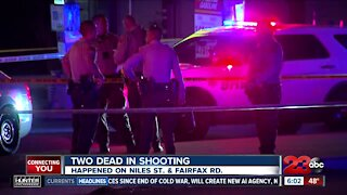 Two dead after shooting on Niles Street