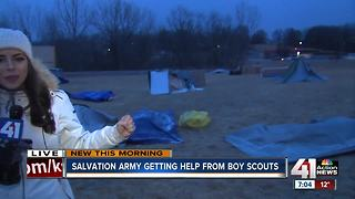 Boy Scouts raise awareness of homelessness - Video