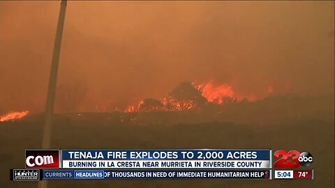 Tenaja fire grows to over 2,000 acres