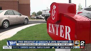 Chick-Fil-A offering free breakfast this month - Video