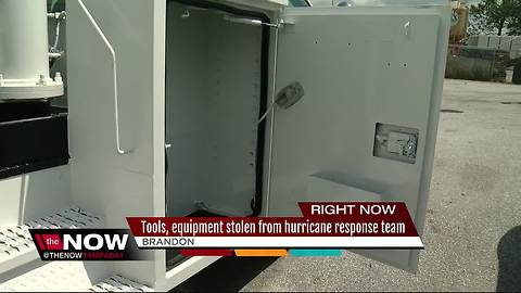 Tools, equipment stolen from hurricane response team