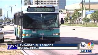 Expanded Palm Tran service in West Palm Beach - Video