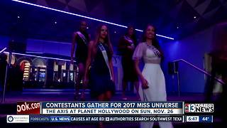 Miss Universe contestants in Las Vegas - Video
