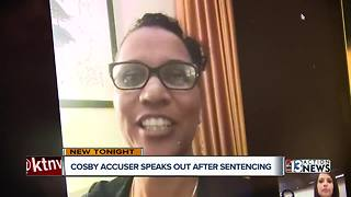 Bill Cosby accuser speaks out after sentencing