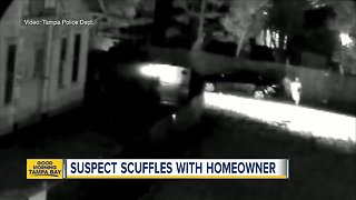 Video shows homeowners confront burglar